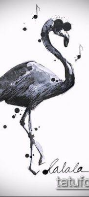 ТАТУИРОВКА ФЛАМИНГО №669 – прикольный вариант рисунка, который легко можно использовать для доработки и нанесения как татуировка фламинго