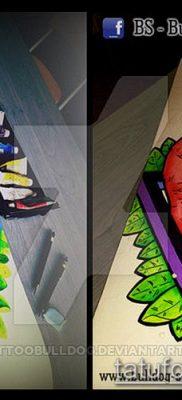 ТАТУИРОВКА ФЛАМИНГО №751 – крутой вариант рисунка, который успешно можно использовать для доработки и нанесения как татуировка фламинго на ноге