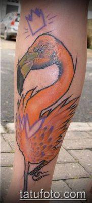 ТАТУИРОВКА ФЛАМИНГО №370 – уникальный вариант рисунка, который удачно можно использовать для переделки и нанесения как татуировка фламинго