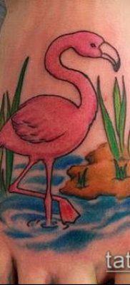 ТАТУИРОВКА ФЛАМИНГО №968 – уникальный вариант рисунка, который хорошо можно использовать для переделки и нанесения как татуировка фламинго на ноге