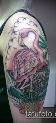 ТАТУИРОВКА ФЛАМИНГО №606 – эксклюзивный вариант рисунка, который удачно можно использовать для доработки и нанесения как татуировка фламинго