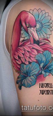 ТАТУИРОВКА ФЛАМИНГО №262 – классный вариант рисунка, который успешно можно использовать для переделки и нанесения как татуировка фламинго на ноге