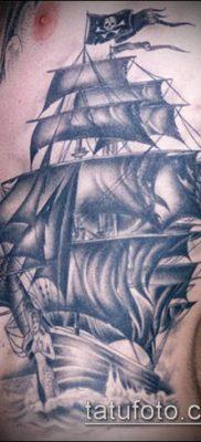 фото ТАТУИРОВКА ФРЕГАТ (Tattoo) (значение) – пример рисунка – 001 tatufoto.com