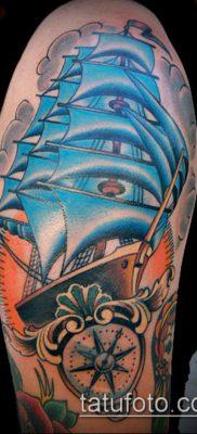 фото ТАТУИРОВКА ФРЕГАТ (Tattoo) (значение) – пример рисунка – 006 tatufoto.com
