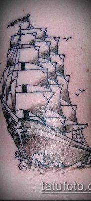 фото ТАТУИРОВКА ФРЕГАТ (Tattoo) (значение) – пример рисунка – 007 tatufoto.com