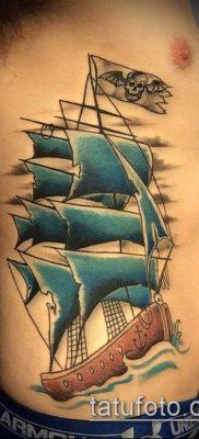 фото ТАТУИРОВКА ФРЕГАТ (Tattoo) (значение) – пример рисунка – 014 tatufoto.com