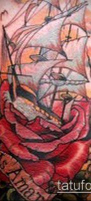 фото ТАТУИРОВКА ФРЕГАТ (Tattoo) (значение) – пример рисунка – 016 tatufoto.com
