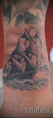 фото ТАТУИРОВКА ФРЕГАТ (Tattoo) (значение) – пример рисунка – 018 tatufoto.com