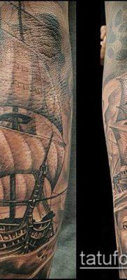 фото ТАТУИРОВКА ФРЕГАТ (Tattoo) (значение) – пример рисунка – 020 tatufoto.com