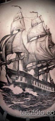 фото ТАТУИРОВКА ФРЕГАТ (Tattoo) (значение) – пример рисунка – 021 tatufoto.com
