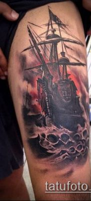 фото ТАТУИРОВКА ФРЕГАТ (Tattoo) (значение) – пример рисунка – 024 tatufoto.com