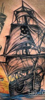 фото ТАТУИРОВКА ФРЕГАТ (Tattoo) (значение) – пример рисунка – 028 tatufoto.com