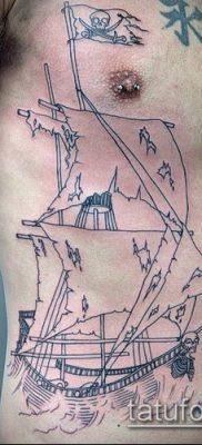 фото ТАТУИРОВКА ФРЕГАТ (Tattoo) (значение) – пример рисунка – 030 tatufoto.com
