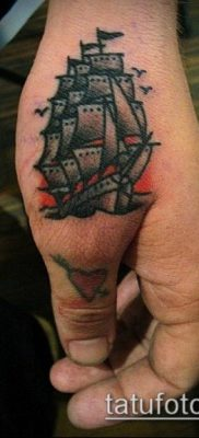 фото ТАТУИРОВКА ФРЕГАТ (Tattoo) (значение) – пример рисунка – 034 tatufoto.com