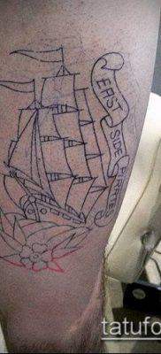 фото ТАТУИРОВКА ФРЕГАТ (Tattoo) (значение) – пример рисунка – 036 tatufoto.com