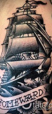 фото ТАТУИРОВКА ФРЕГАТ (Tattoo) (значение) – пример рисунка – 037 tatufoto.com
