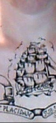 фото ТАТУИРОВКА ФРЕГАТ (Tattoo) (значение) – пример рисунка – 038 tatufoto.com