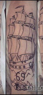 фото ТАТУИРОВКА ФРЕГАТ (Tattoo) (значение) – пример рисунка – 039 tatufoto.com