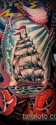 фото ТАТУИРОВКА ФРЕГАТ (Tattoo) (значение) – пример рисунка – 046 tatufoto.com
