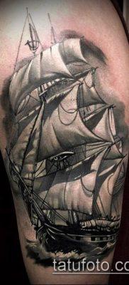 фото ТАТУИРОВКА ФРЕГАТ (Tattoo) (значение) – пример рисунка – 047 tatufoto.com