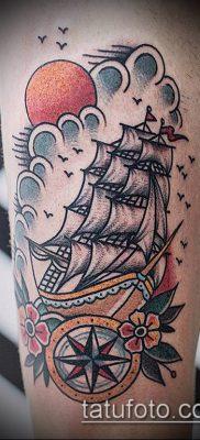 фото ТАТУИРОВКА ФРЕГАТ (Tattoo) (значение) – пример рисунка – 048 tatufoto.com