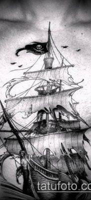 фото ТАТУИРОВКА ФРЕГАТ (Tattoo) (значение) – пример рисунка – 049 tatufoto.com