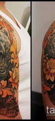 ТАТУИРОВКА ХОХЛОМА №872 – интересный вариант рисунка, который успешно можно использовать для доработки и нанесения как татуировка хохлома на спине