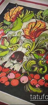 ТАТУИРОВКА ХОХЛОМА №880 – прикольный вариант рисунка, который легко можно использовать для доработки и нанесения как татуировка хохлома