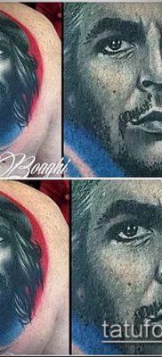 ТАТУИРОВКА ЧЕ ГЕВАРА №436 – крутой вариант рисунка, который удачно можно использовать для преобразования и нанесения как татуировка че гевара на руке