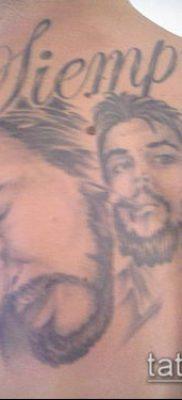 ТАТУИРОВКА ЧЕ ГЕВАРА №228 – достойный вариант рисунка, который удачно можно использовать для переделки и нанесения как татуировка че гевара на руке