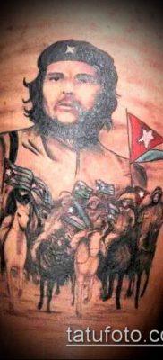 ТАТУИРОВКА ЧЕ ГЕВАРА №489 – достойный вариант рисунка, который легко можно использовать для переработки и нанесения как татуировка че гевара на руке