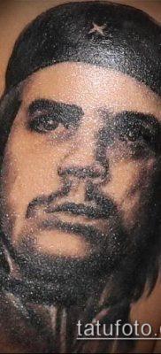 ТАТУИРОВКА ЧЕ ГЕВАРА №834 – крутой вариант рисунка, который удачно можно использовать для переработки и нанесения как татуировка че гевара