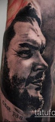 ТАТУИРОВКА ЧЕ ГЕВАРА №836 – уникальный вариант рисунка, который удачно можно использовать для преобразования и нанесения как татуировка че гевара