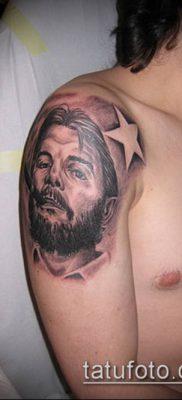 ТАТУИРОВКА ЧЕ ГЕВАРА №328 – крутой вариант рисунка, который легко можно использовать для преобразования и нанесения как татуировка че гевара