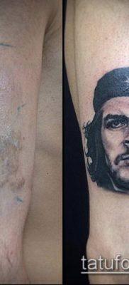 ТАТУИРОВКА ЧЕ ГЕВАРА №581 – классный вариант рисунка, который хорошо можно использовать для преобразования и нанесения как татуировка че гевара