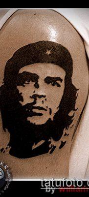 ТАТУИРОВКА ЧЕ ГЕВАРА №554 – уникальный вариант рисунка, который удачно можно использовать для переработки и нанесения как татуировка че гевара