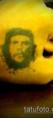 ТАТУИРОВКА ЧЕ ГЕВАРА №158 – интересный вариант рисунка, который легко можно использовать для переделки и нанесения как татуировка че гевара на руке