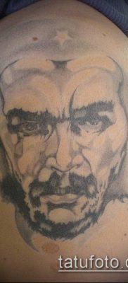 ТАТУИРОВКА ЧЕ ГЕВАРА №858 – достойный вариант рисунка, который удачно можно использовать для преобразования и нанесения как татуировка че гевара