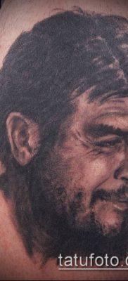 ТАТУИРОВКА ЧЕ ГЕВАРА №84 – крутой вариант рисунка, который хорошо можно использовать для переделки и нанесения как татуировка че гевара