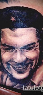ТАТУИРОВКА ЧЕ ГЕВАРА №380 – прикольный вариант рисунка, который успешно можно использовать для переработки и нанесения как татуировка че гевара на руке