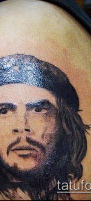 ТАТУИРОВКА ЧЕ ГЕВАРА №266 – крутой вариант рисунка, который хорошо можно использовать для преобразования и нанесения как татуировка че гевара на руке
