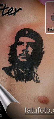 ТАТУИРОВКА ЧЕ ГЕВАРА №845 – прикольный вариант рисунка, который легко можно использовать для переделки и нанесения как татуировка че гевара