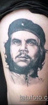 ТАТУИРОВКА ЧЕ ГЕВАРА №150 – интересный вариант рисунка, который легко можно использовать для преобразования и нанесения как татуировка че гевара