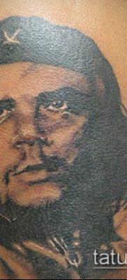 ТАТУИРОВКА ЧЕ ГЕВАРА №484 – интересный вариант рисунка, который удачно можно использовать для доработки и нанесения как татуировка че гевара на руке