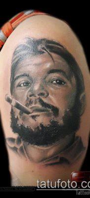 ТАТУИРОВКА ЧЕ ГЕВАРА №324 – крутой вариант рисунка, который удачно можно использовать для доработки и нанесения как татуировка че гевара на руке
