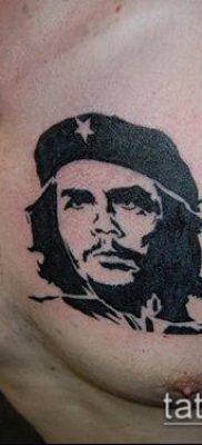 ТАТУИРОВКА ЧЕ ГЕВАРА №505 – достойный вариант рисунка, который удачно можно использовать для переработки и нанесения как татуировка че гевара