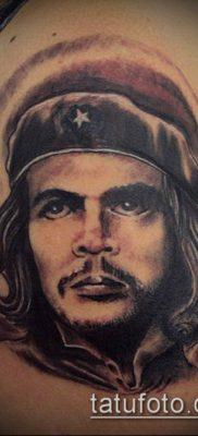 ТАТУИРОВКА ЧЕ ГЕВАРА №833 – эксклюзивный вариант рисунка, который успешно можно использовать для доработки и нанесения как татуировка че гевара на руке