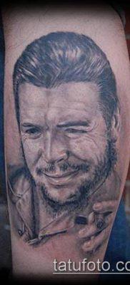 ТАТУИРОВКА ЧЕ ГЕВАРА №470 – интересный вариант рисунка, который удачно можно использовать для переработки и нанесения как татуировка че гевара на руке