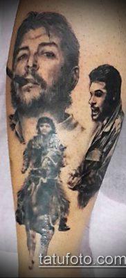 ТАТУИРОВКА ЧЕ ГЕВАРА №89 – уникальный вариант рисунка, который успешно можно использовать для доработки и нанесения как татуировка че гевара на руке