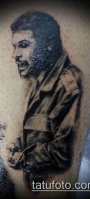 ТАТУИРОВКА ЧЕ ГЕВАРА №807 – достойный вариант рисунка, который хорошо можно использовать для доработки и нанесения как татуировка че гевара на руке